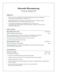 Resume Templates For Word 2007 Extraordinary Office Word Resume Template Resume Reviews