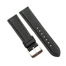 don taylor 22mm black soft water proof padded leather watch band com