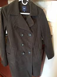 new gap women s dark brown cotton lined trench coat size small new nwot