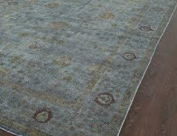 rugsville overdyed dark grey rug 11095 11095
