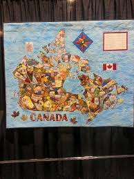 31 best Canadian Inspired quilts images on Pinterest | Canada 150 ... & Map quilt of Canada Adamdwight.com