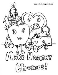 Small Picture Healthy Habits Coloring Pages FunyColoring