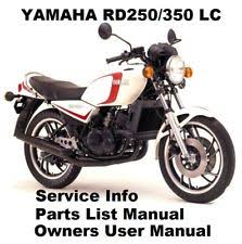 yamaha rd350 rd250 lc owners work service repair parts manual pdf on cd r