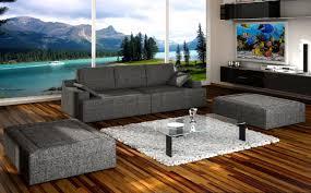 Exklusives Designer Sofa Couch Inkl 2 Hockern Ascoli