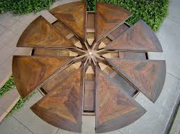 spinning expanding round table western heritage furniture custom rustic santa fe