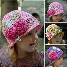 Childrens Crochet Hat Patterns Mesmerizing Pretty Crochet Girls Panama Hat FREE Patten And Video