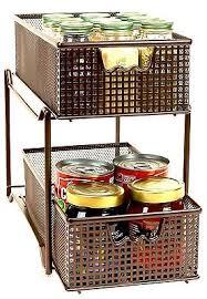 Metal Drawer Organizer Sliding Storage Baskets Cabinet Organization Bronze  | What's it worth