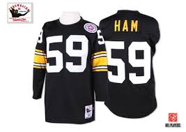 Jack And Throwback Home 59 Nfl Pittsburgh Authentic Steelers - Mitchell Men's Ham Ness Black Jersey