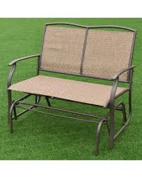 Bench  Outdoor Glider Cushions Awesome Outdoor Glider Bench Image Outdoor Glider Furniture