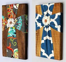 fabric crosses on stained wood i m so making my mother in law and grandma taylor each one for christmas  on diy fabric cross wall art with pin by julie webb on favorites pinterest craft crafty and
