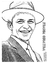 Frank Sinatra Colouring Page