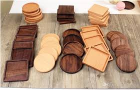 2019 8 8cm beech walnut wood coasters wooden cup coffee tea cup pads drinking mats teapot drink coaster sn1139 from szyang 1 33 dhgate com
