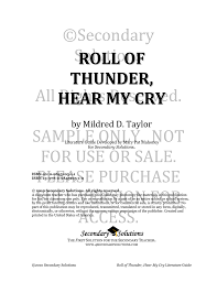 Roll Of Thunder Hear My Cry Symbolism Chart Roll Of Thunder Hear My Cry Secondary Solutions