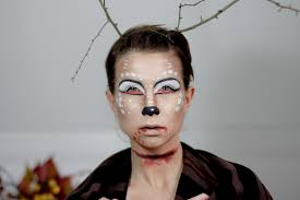 bambi deer make up styling idea tutorial how to schminken grusel y cats dogs