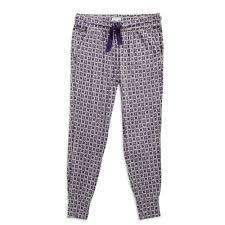 Lounge Pajama Pants In Lilac Foulard
