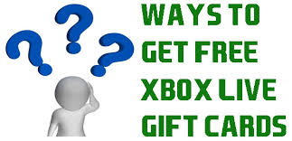 ways to get free xbox live gift cards no survey