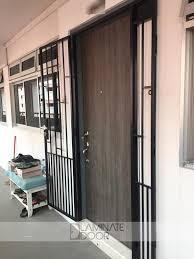 laminate door showroom supply and install hdb fire rated main door and mild steel gate at door factory