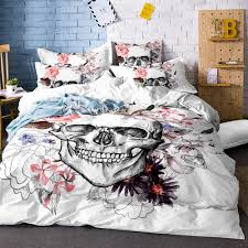 bedding set soft quilt cover necklace skull with hair duvet cover white single bed comfortable queen size sj135 striped duvet cover fl duvet from adeir
