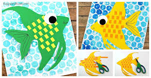 Woven Paper Angelfish Craft For Kids Buggy And Buddy