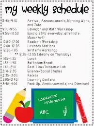 My Weekly Schedule The Fabulous First Grade My Weekly Schedule Currently And A Peek