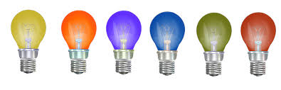 light bulbs color lights colors glass lamps bulb i23
