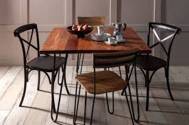 Hairpin dining table Eames Alice Seater Hairpin Dining Table Black Oli Grace Alice Seater Hairpin Dining Table Black Industrial Chic Style