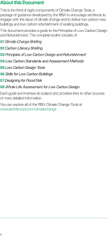 Climate Change Toolkit 03 Principles of Low Carbon Design and Refurbishment  - PDF Free Download