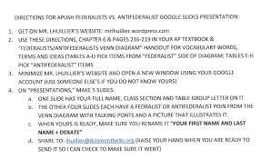 Federalists And Anti Federalists Venn Diagram Directions For Apush Federalists Vs Antifederalists Google