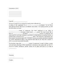 Employment Verification Letter Template Template Pinterest