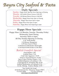 Bayou City Seafood & Pasta menu in ...