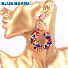 <b>Acrylic Earrings</b> Boho Acetate Bohemian 2019 Women Drop <b>Jewelry</b> ...