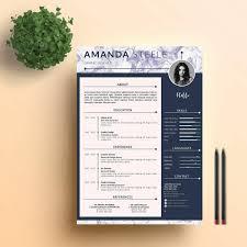 Contemporary Resume Templates Elsik Blue Cetane