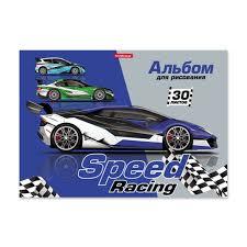 Альбом для рисования на клею <b>ErichKrause</b>® <b>Speed Racing</b>, А4 ...