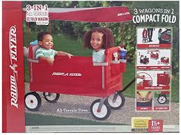 Radio Flyer 3 In 1 Off Road Ez Fold Wagon With Canopy The