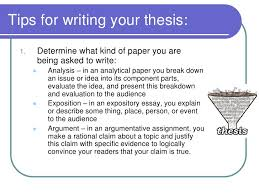 developing a thesis statement 3 tips for writing your thesis