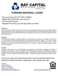 Foreign National Loan