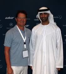 England team manager Fabio Capello greets His Excellency Mohammed Ibrahim Al Mahmood, the general secretary of the Abu Dhabi Sports Council during the Abu ... - Laureus%2BWorld%2BSports%2BAwards%2BPress%2BConferences%2BB15P1ij9MmBl