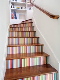 vibrant staircase paint color