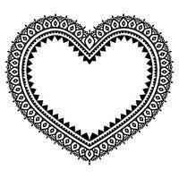 Srdce Design Mehndi Indická Henna Tetování Vzor Vektory Z Knihovny