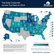 Virginia Sales Tax 2014 Chart Top State Corporate Income Tax Rates In 2014 Tax Foundation