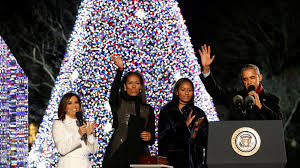 The Obamas Light Their Last Christmas Tree As The First