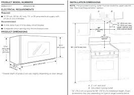 Over The Range Microwave Installation Height  Dimensions Under Cabinet I17