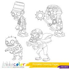 Plants Vs Zombies Coloring Pages Hero Lego Digital By Kiddocolor