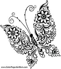 Printable Coloring Pages Of Flowers And Butterflies Printable Coloring Pages Of Flowers Sheets Kids Lotus Free