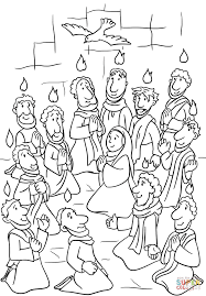 Small Picture Descent Of The Holy Spirit At Pentecost Coloring Page With