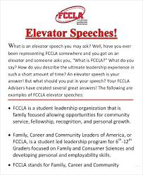 What Is A Elevator Speech Elevator Speech Examples 9 Free Word Pdf Documents Download