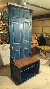 old door hall tree upcycle furniture diy halltree olddoor