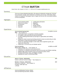Online Resume Example Examples And Samples Job Sample Free Template ...