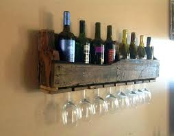 wall mounted wine glass holder contemporary wall mounted wine glass rack shelf home design ideas within