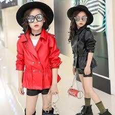 winter jacket for girls 2018 brand uni thick leather jacket boys coats children toddler infant for